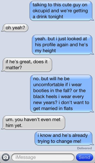 short man / tall problems